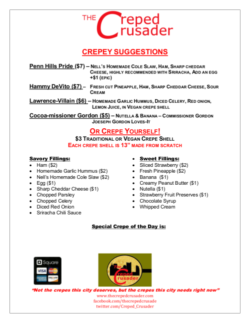 Creped Crusader 8.21.13 menu
